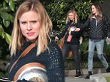 Kristen Bell takes her role as Honourary Chair of homeless shelter seriously as she helps out on a Sunday