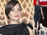 Marion Cotillard is the picture of elegance in black draped dress and chignon on last night of Marrakech Film Festival