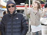 Fan favourite: Jason Bateman posed for photos with fans on Sunday during a family trip to a farmer's market in Los Angeles