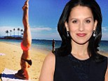 Anything Ireland can do! Hilaria Baldwin follows her stepdaughter's lead with some bikini-clad yoga on the beach in Hawaii