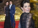 Evangeline Lilly stuns in a black lace dress to the Berlin premiere of The Hobbit: The Desolation Of Smaug with Orlando Bloom