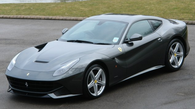 Sleek: The Ferrari F12berlinetta pictured on the second-hand dealership's website, was bought by Frank Lampard's agent in the footballers name