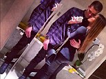 Young love: Wojciech Szczesny (left) and Marina Luczenko shared this image to announce that they are dating