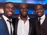 Brothers: Sam Sodje (left), Steve Sodje (centre) and Akpo Sodje are embroiled in the match-fixing scandal