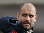Masterful manager: But Bayern Munich's Pep Guardiola recognises the threat Manchester City pose
