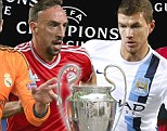 Manchester City and Manchester United are in action in an attempt to finish top of their Champions League group