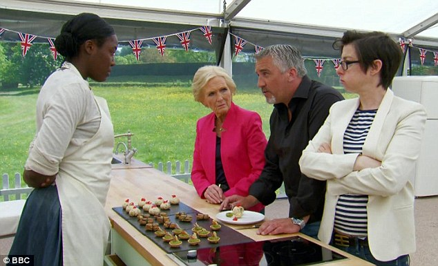 What do you think? Kimberley waits anxiously for Paul and Mary Berry to pass judgement on her offerings