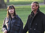 Reunited: Daisy Lowe and her father Gavin Rossdale enjoy some quality time together in London