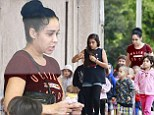 Giving her problems the cold shoulder! Octomom treats her children to ice cream... as it emerges she face eviction just in time for Christmas