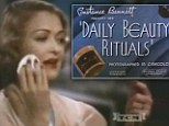 No wonder they looked so perfect! Video shows 1930s beauty regime - with assistance of private maid and FIVE creams