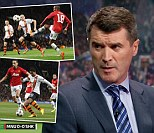Hard night: Keane said Rio Ferdinand looked as though he was playing his debut