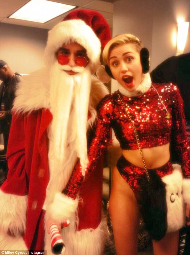 Surprising nobody: Miley Cyrus made sure she did as many inappropriate things as possible at the Jingle Ball in Los Angeles on Saturday night, including grabbing a candy cane between Santa's legs