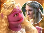Wannabe Galadriel: A pink muppet channels Galadriel in the Sesame Street Lord of the Rings spoof, Lord of the Crumbs, which aired on Sesame Street on Tuesday