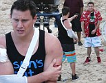 Trouble in paradise for Schmidt and Jenko as wounded Channing Tatum points gun at Jonah Hill on set of 22 Jump Street