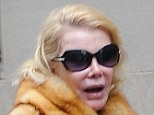 Joan Rivers steps out without make-up in New York City