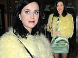 She's Hot 'n' Cold: Katy Perry turns up the heat in fur jacket as the temperature drops in London