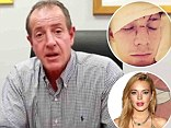 Papa to the rescue! Michael Lohan, right, claims that his daughter Lindsay Lohan texted him for help after learning party-goers were doing drugs in Miami over the weekend