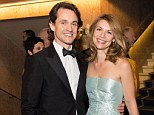 Ice queen: Claire Danes looks stunning in a strapless ice blue ballgown as she arrives at the Nobel Banquet with husband Hugh Dancy