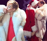 A Claus in her contract? Miley Cyrus grinds up against booze swigging bad Santa at Jingle Ball