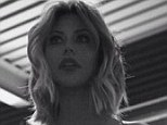 Check me out: Danity Kane star Aubrey O'Day poses in sexy lingerie on the set of a new photoshoot