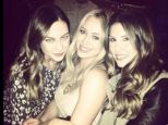Girl's night out! Hilary Duff hit the town with a couple gal pals for the Jay-Z concert on Monday