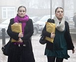 Team Cupcake: The court was told that Charles Saatchi would shout at the personal assistants, including Alice Binks, Zoe Wales and Anzelle Wassermann (pictured left to right), who worked for him and Nigella Lawson