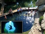 Jacob's Well, the most dangerous diving spot in the world, located in Wimberley, Texas