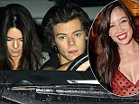 2522178 Love triangle! Kendall Jenner, 18, is 'crazy about Harry Styles, 19, but he's still texting his secret girlfriend of one month Daisy Lowe, 24'