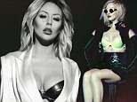 Aubrey O'Day flashes her assets in skimpy bra and suspenders as she shares a teaser from sultry lingerie shoot with her band reunited Danity Kane
