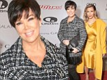 Kris Jenner jostles for prime photo position in front of daughter at Hollywood breakfast event