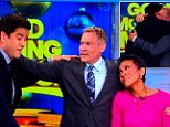 Champion, who has been with GMA since 2006, welled up as he said goodbye to co-hosts Robin Roberts, George Stephanopoulos, Lara Spencer and Josh Elliot.