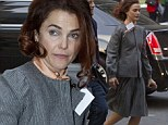 Staying positive? Keri Russell dons bleary 1980's suit to continue filming The Americans in spite of burglary and marriage breakdown