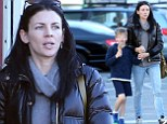 That's how she stays so trim: Liberty Ross takes her son Tennyson for ice cream but steers clear of sugary treat