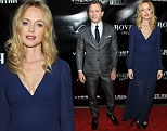 Auditioning to be a Bond girl? Heather Graham wows in a dramatic gown while sharing the red carpet with Daniel Craig