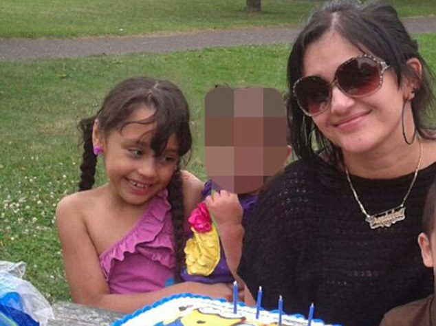 Devastating: Brianna with her mother Glendalee Alvarado, who was injured in the crash that killed her daughter