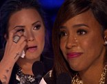 Tears flowing: Kelly Rowland cried her eyes out on Wednesday watching the semi-finalists perform on The X Factor