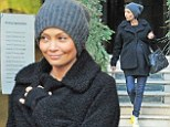 The Chronicles of pregnancy: Stunning actress Thandie Newton is positively glowing as she wraps up her bump for shopping trip