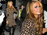 Paris Hilton was all smiles as she left a dinner date with boyfriend River Viiperi at Mastro's in Beverly Hills
