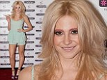 In the pink: Pixie Lott sports pink eyebrows in Liverpool
