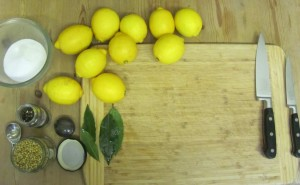 Preserved lemons ingredients
