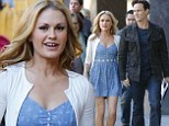 Who needs Maria? Sound Of Music Live star Stephen Moyer looks enamored with wife Anna Paquin as they step out in LA