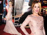 Veronica would be impressed! Christina Applegate goes for full-length glamour in baby pink gown at Anchorman 2 premiere