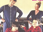 LeAnn Rimes and Eddie Cibrian wish friends 'a naughty 2014' while wearing matching onesies on family Christmas card