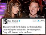 Guess this year's most retweeted celebrity: Justin Bieber with 47 million followers? Gaga with 40 million? No... it was Lea Michele with 4 million, and THAT Cory tweet
