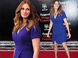 Blue belle: Julia Roberts is still a Pretty Woman at 46 as she steals the spotlight at the New York premiere of new film August: Osage County