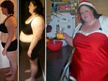 Mother ditches junk food to shed more than a THIRD of her body weight after seeing 'shocking' picture of her in Santa outfit weighing 23 stone