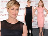 Fantastic in their forties! Connie Britton, left, and Robin Wright, right, displayed their youthful figures as they arrived at the Muse Awards at the Hilton New York in New York City on Thursday