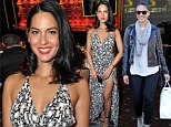 Olivia Munn covers up in jeans for shopping trip before flashing her leg in racy dress at American Cinematheque event