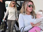 Petra Ecclestone enjoys a day out in Beverley Hills with baby daughter Lavinia
