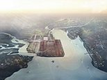 Side-lined: Lord Foster€™s' £50billion design for Thames estuary airport